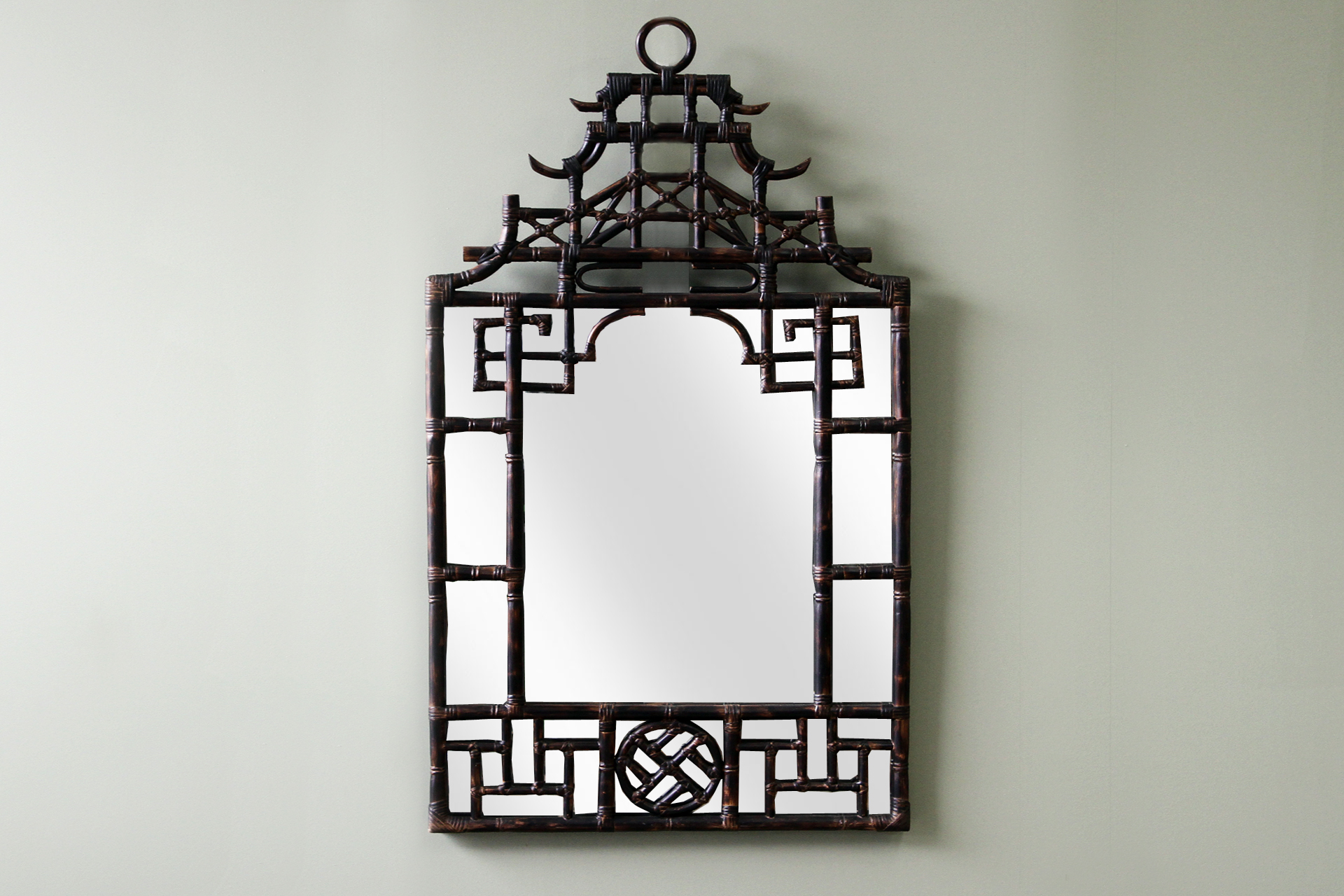 Chinese Mirror Naturally Cane Rattan And Wicker Furniture