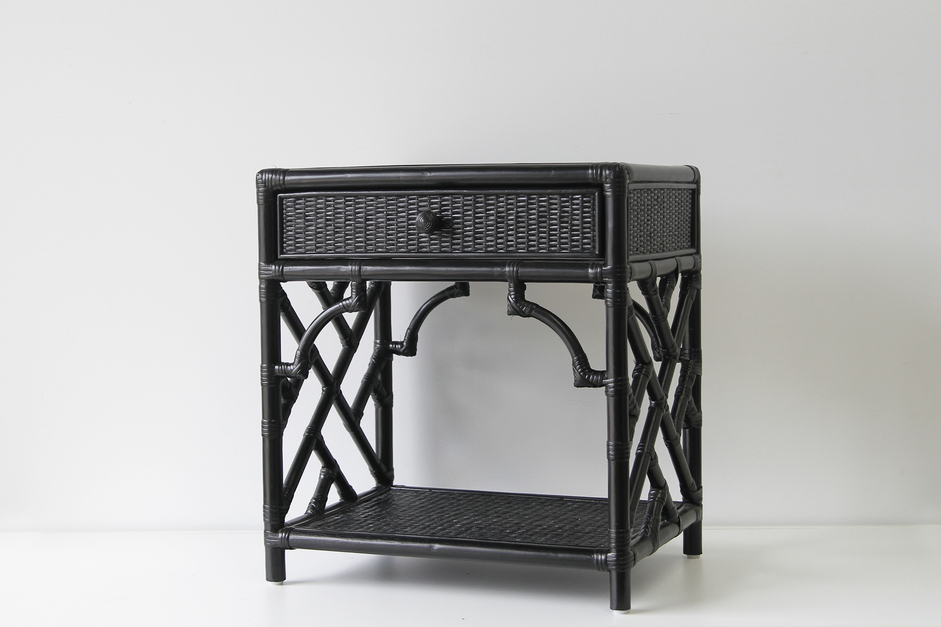 Regent Bedside Table Naturally Cane Rattan And Wicker