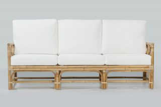 Natural cane daybed