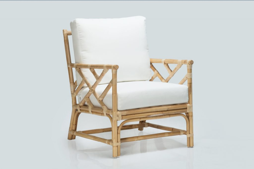 natural cane armchair