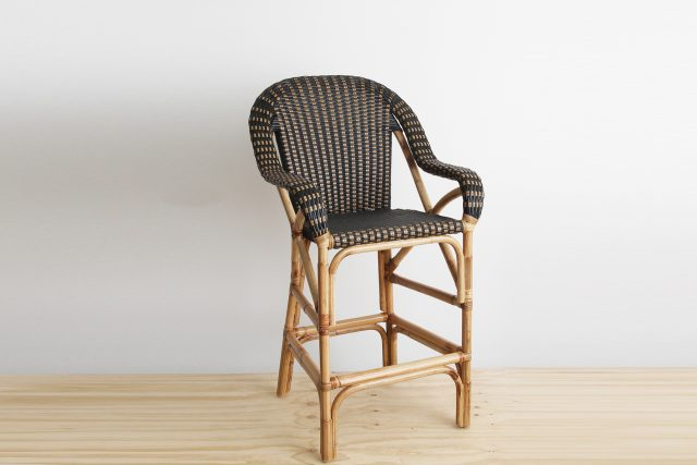 woven cane barstool