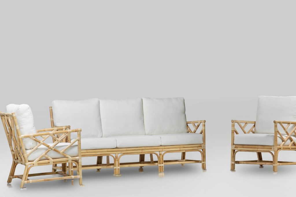 natural cane lounge suite