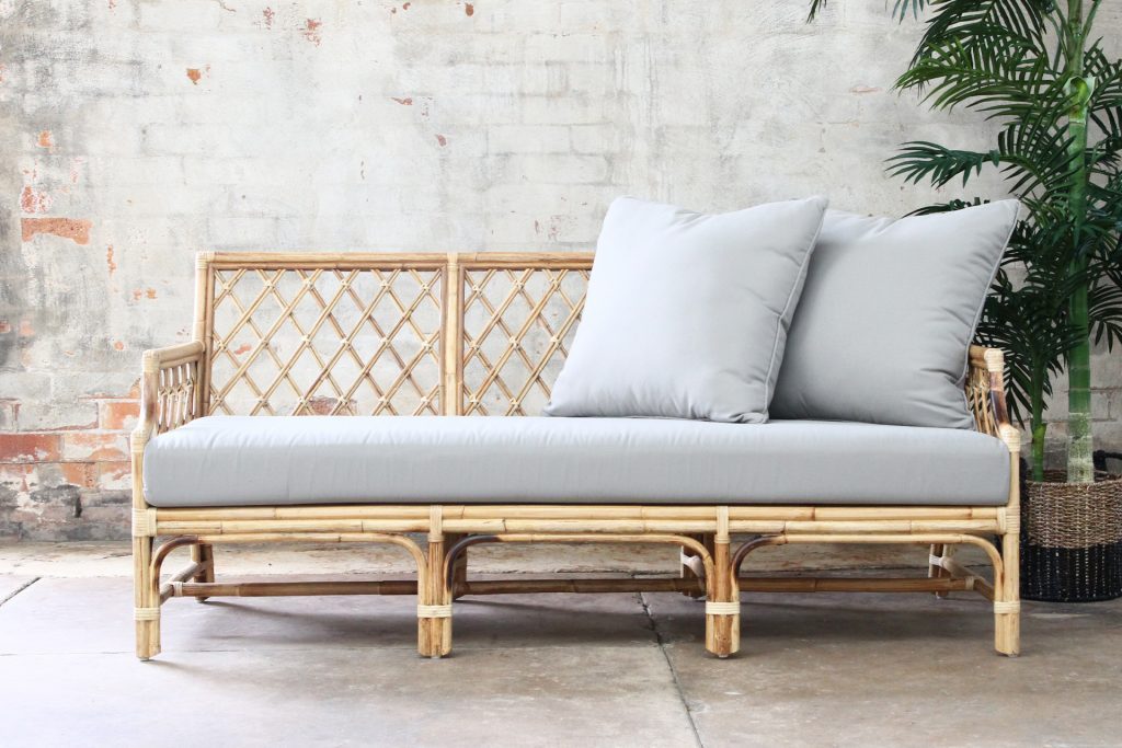 Natural wicker and Rattan daybed