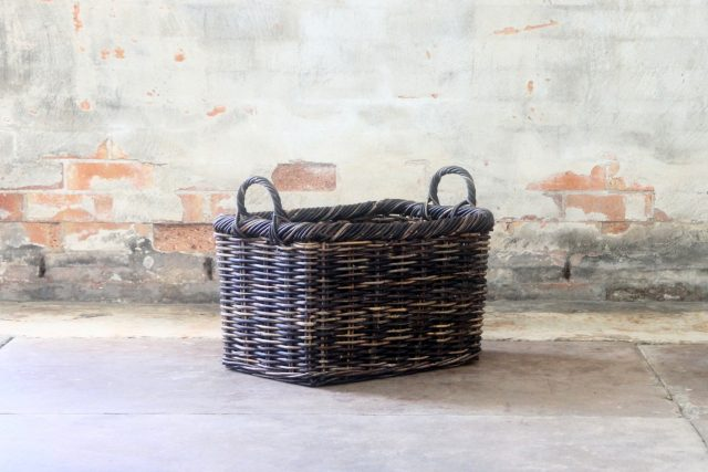 cane wicker storage baskets