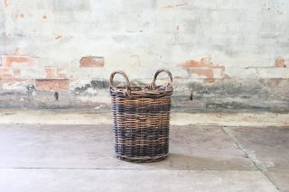 Made from natural rattan woven onto a natural rattan frame. Suitable for indoors and out as storage or planter baskets