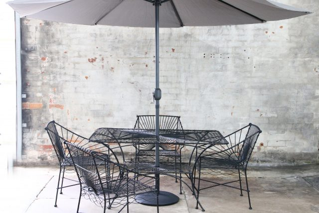 French wirework dining table