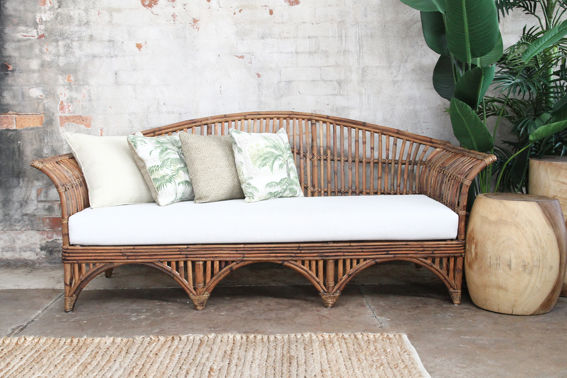 Daybed, Cane Daybed, Rattan Daybed, split cane daybed