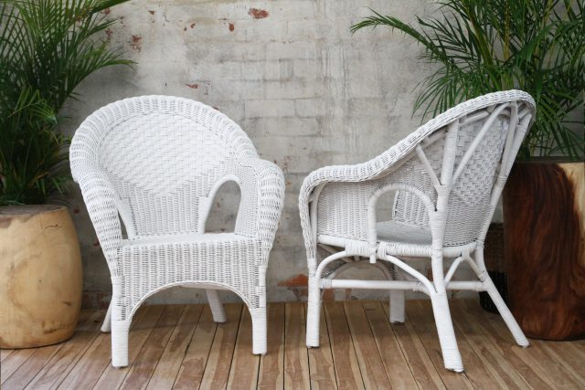 white cane Lawn chair