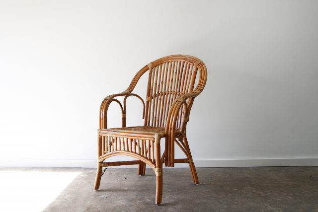 Split cane dining chair