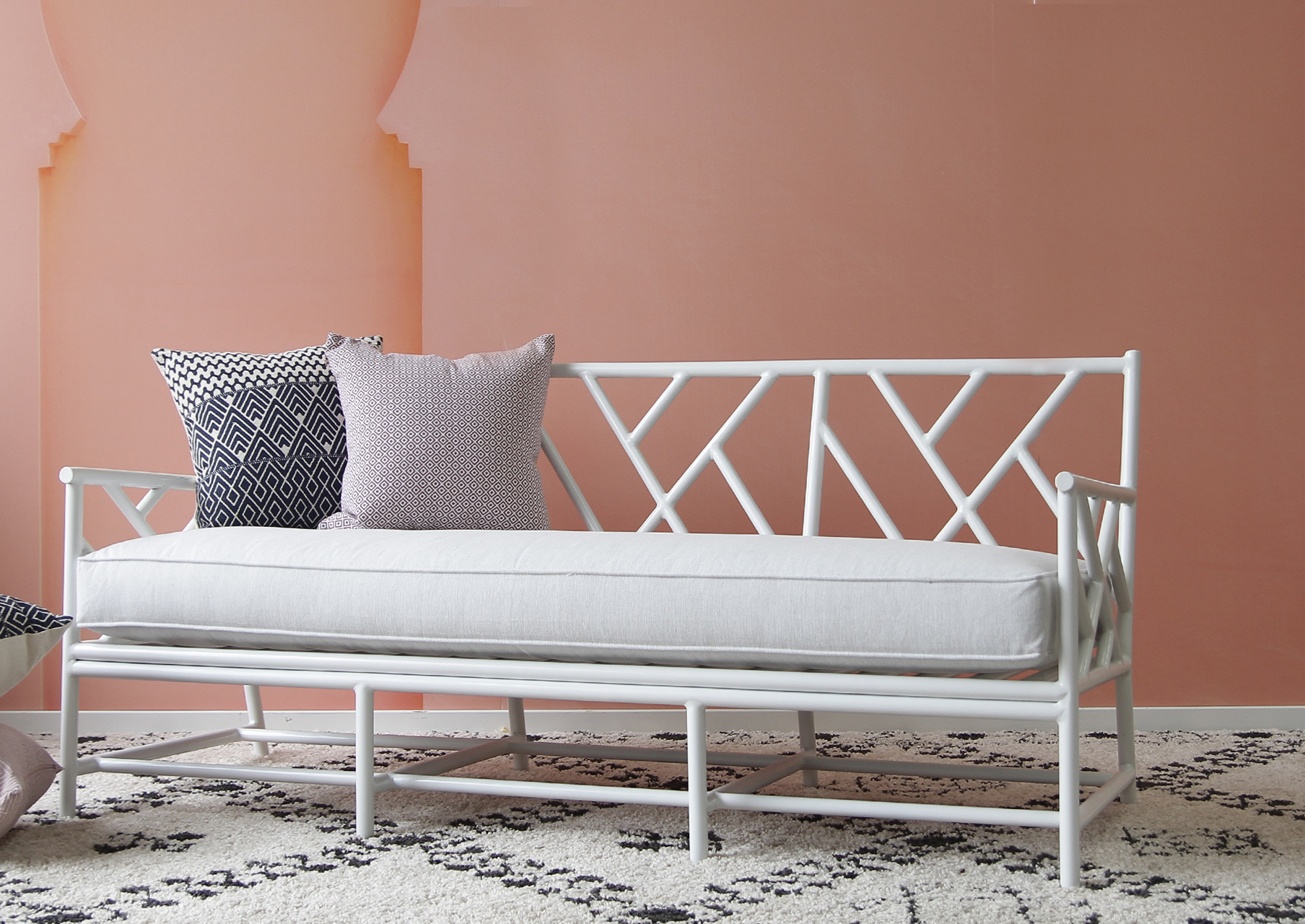 Outdoor Palm Springs Daybed Naturally Cane Rattan And Wicker Furniture