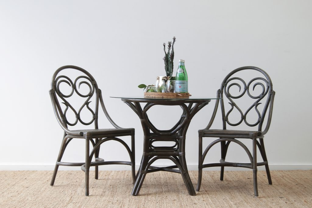 Bent Rattan dining chairs