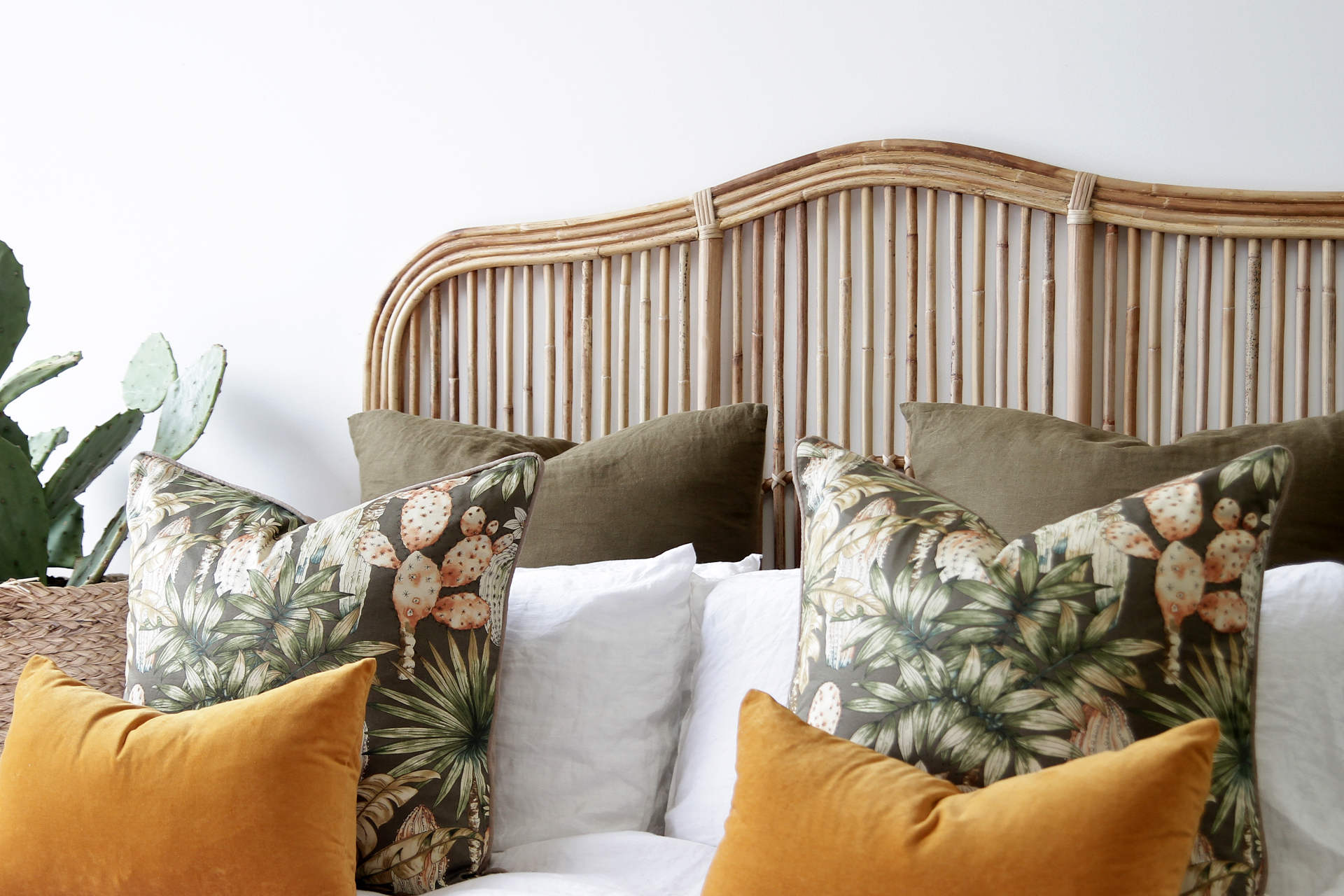 Brookhaven Bedhead Natural Naturally Cane Rattan And