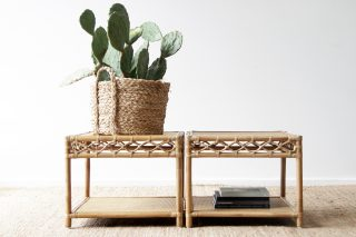 Rattan Helix coffee table / side table