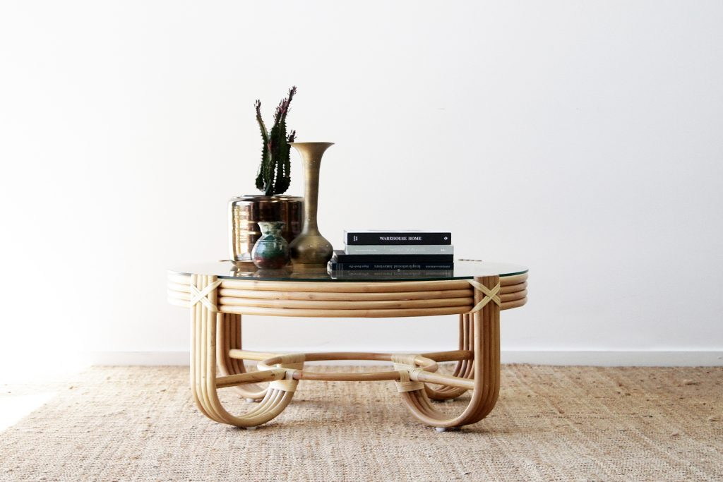 Pretzel Rattan Coffee Table