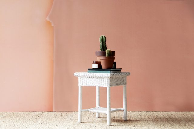 Palais wicker side table