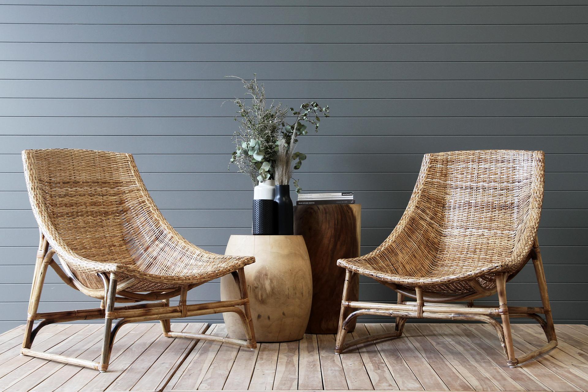 Rattan hammock armchair