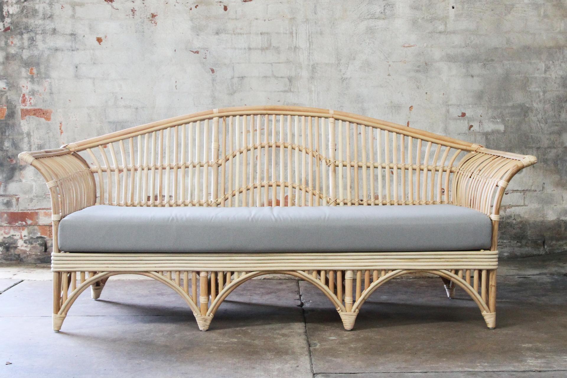 Classic Australian split cane daybed