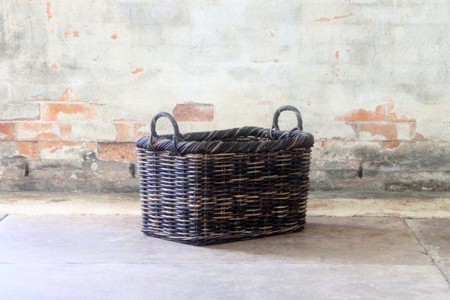 cane wicker storage baskets