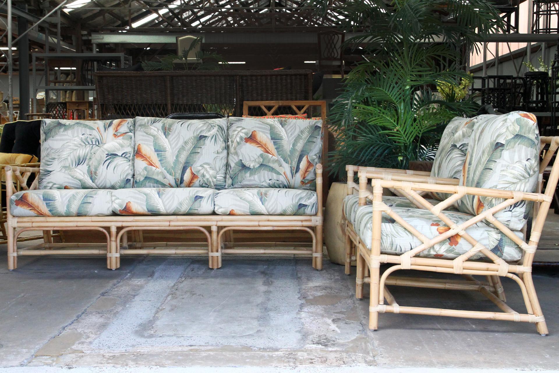 Natural Rattan cane lounge suite