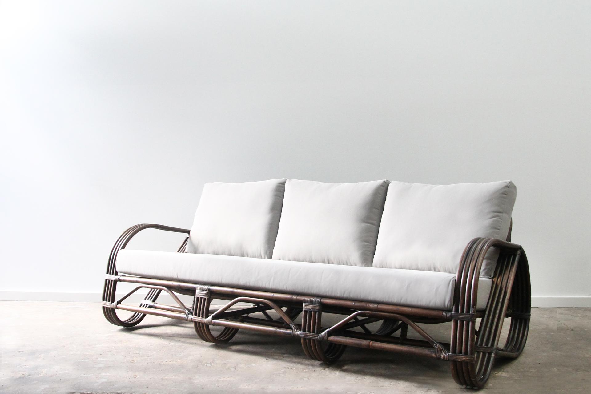 Pretzel rattan lounge 3 seater