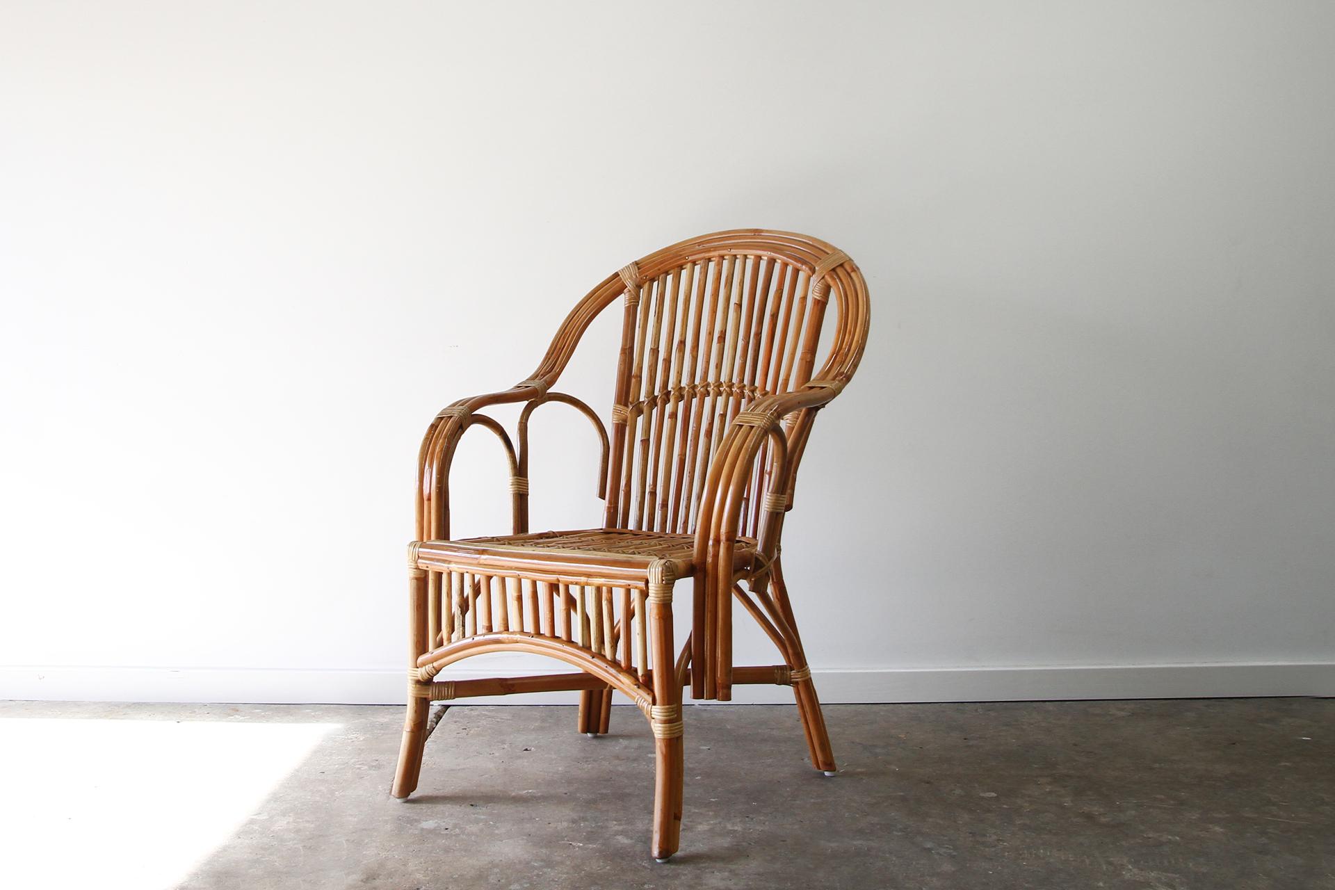 Split cane dining chair