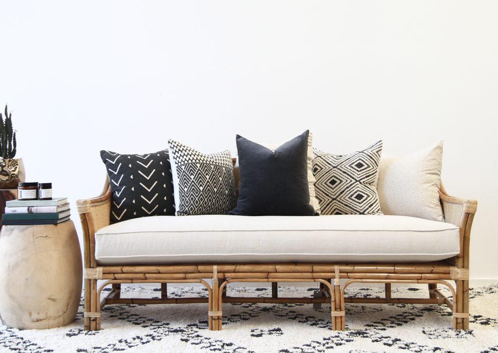 Rattan Singapore sofa