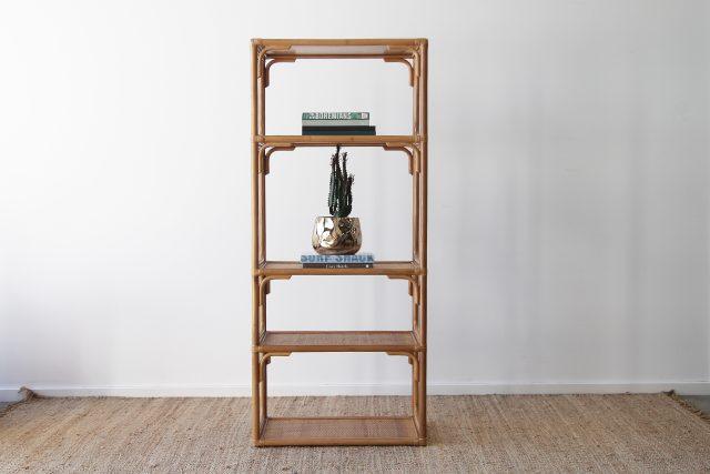 Rattan bookshelf