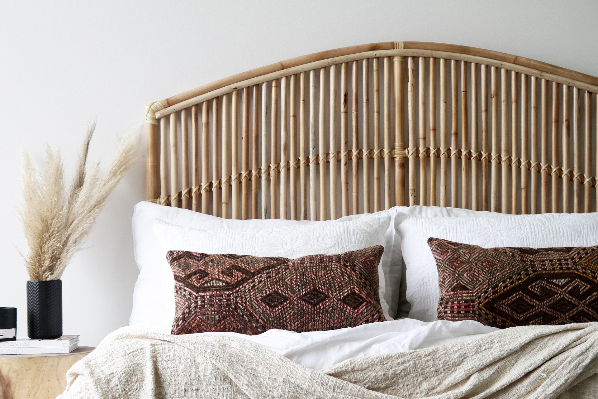 Momi Bay Queen Bedhead Naturally Cane Rattan And Wicker Furniture