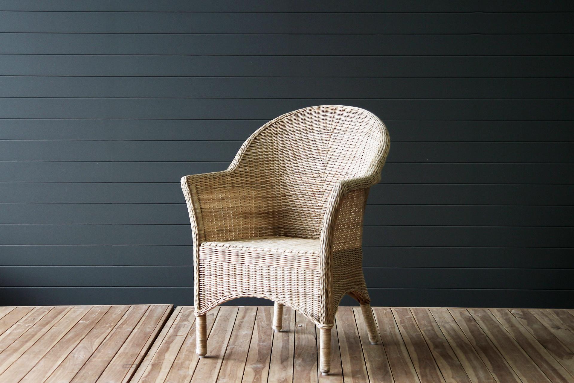 Batavia Fine Weave Dining Chair Naturally Cane Rattan