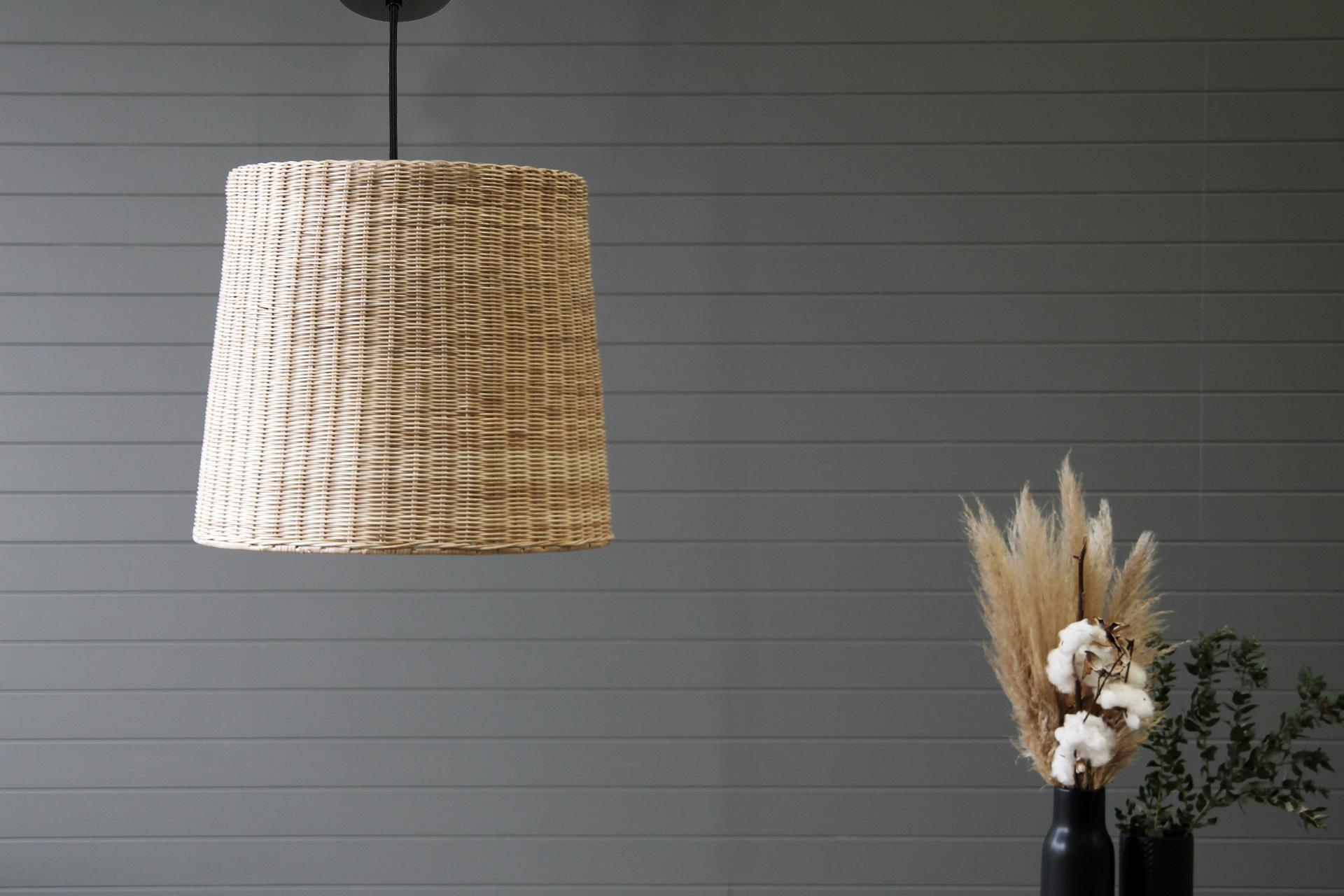 Rattan Bell Pendant Light Shade - Small