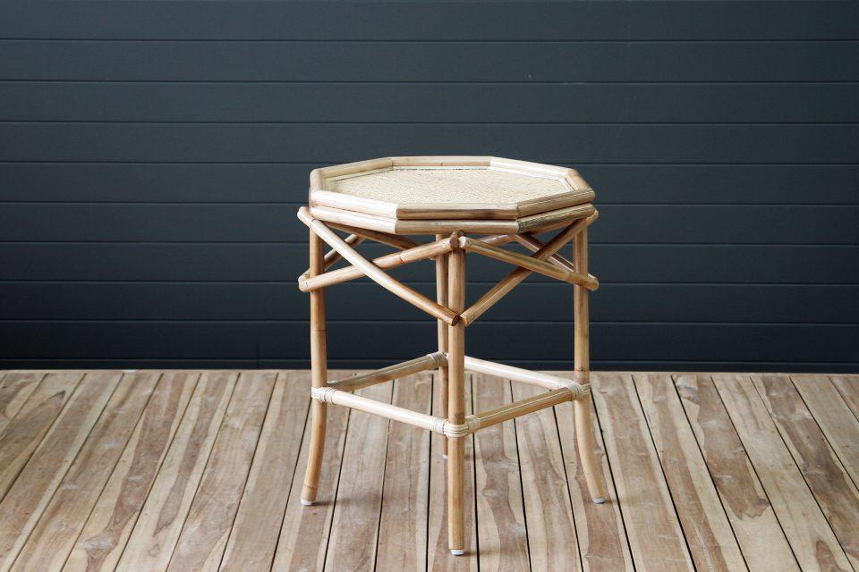 Rattan bedside table