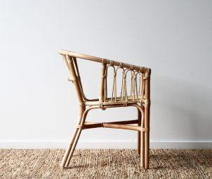 Cape loop armchair_natural_sideLS